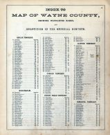 Wayne County Map 2, Index 1, Wayne County 1872