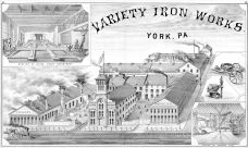 Variety Iron Works, York County 1876