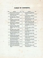 Table of Contents, Newport 1876