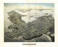 Newport 1878 Bird's Eye View 17x21, Newport 1878 Bird's Eye View