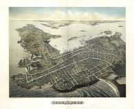 Newport 1878 Bird's Eye View 24x29, Newport 1878 Bird's Eye View