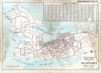 Street Index and Assessors Map, Newport 1893