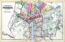 Index Map, Providence 1875 Vol 1 Wards 1 - 2 - 3  East Providence