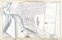 Plate W, Providence 1875 Vol 1 Wards 1 - 2 - 3  East Providence