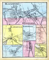 Blackson, Waterford, Slatersville, Forestdale, Union Village, Allenville, Albion, Manville, Rhode Island State Atlas 1870