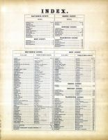 Index, Rhode Island State Atlas 1870