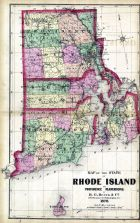State Map - Rhode Island, Providence and Plantations, Block Island, Rhode Island State Atlas 1870