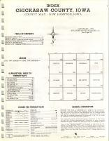 Index map, Chickasaw County 1971