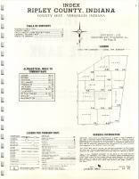 Index Map, Ripley County 1970
