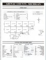 Index Map, Arenac County 1990