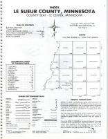 Index Map, LeSueur County 1980