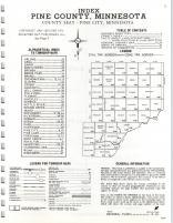 Index Map, Pine County 1973