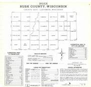 Index Map, Rusk County 1971