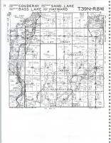 Couderay, Sand Lake, Bass Lake, Hayward T39N-R8W, Sawyer County 1981
