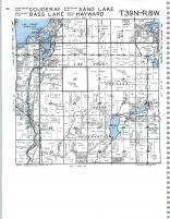 Couderay, Sand Lake, Bass Lake, Hayward T39N-R8W, Sawyer County 1991