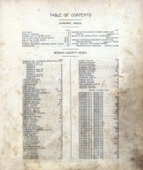 Table of Contents 001, Brown County 1911