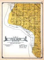 Civil Bend Township, Clay and Union Counties 1924