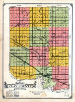 County Map - Clay County, Clay and Union Counties 1924