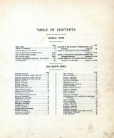 Table of Contents, Day County 1929