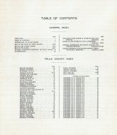 Table of Contents, Faulk County 1910