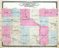 County Outline Map, Hutchinson County 1910