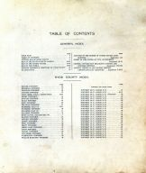 Table of Contents, Hyde County 1911