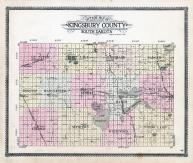 Kingsbury County Outline Map, Kingsbury County 1909