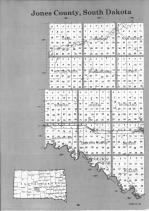 Jones County Index Map 001, Lyman and Jones Counties 1992