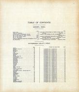 Table of Contents, McPherson County 1911