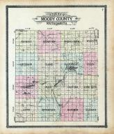 Moody County Outline Map, Moody County 1909