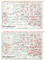 Average Assessed Value of Land Per Acre, Map Showing Average Selling Value Per Acre of Land Without Improvements, South Dakota State Atlas 1904