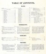 Table of Contents, South Dakota State Atlas 1904