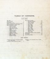 Table of Contents, Turner County 1902