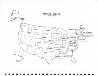 United States Map, Union County 1992