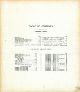 Table of Contents, Walworth County 1911