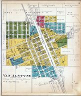 Van Alstyne Town Map, Grayson County 1908