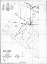 Pecos County 1936 West - Highway Map