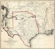 Texas 1859 Military Map, Texas 1859 Military Map