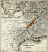 Texas 1871 Railroad Map - Cairo and Fulton 24x25, Texas 1871 Railroad Map - Cairo and Fulton
