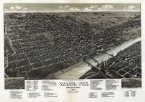 Waco 1886 Bird's Eye View 17x24, Waco 1886 Bird's Eye View
