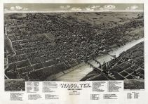 Waco 1886 Bird's Eye View 24x34, Waco 1886 Bird's Eye View