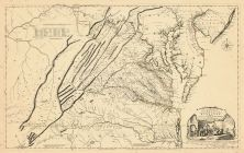 Virginia 1755 Map Of The Most Inhabited Part Of Virginia Etc Virginia 1755 Map Of