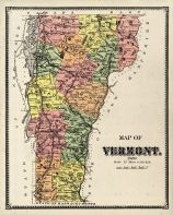 Vermont Map, Bennington County 1869