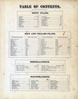 Table Of Contents, Caledonia County 1875