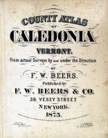 Title Page, Caledonia County 1875