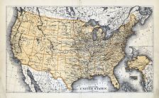 United States Map, Caledonia County 1875