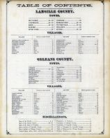 Table of Contents, Lamoille and Orleans Counties 1878