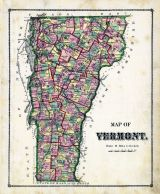 Vermont Map, Orange County 1877