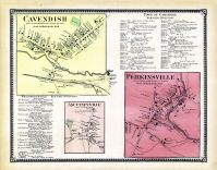Cavendish Town, Ascutneyville Town, Perkinsville Town, Windsor County 1869
