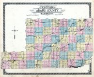 Adams County Outline Map, Adams County 1912